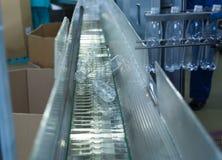 Procedimento de fabricação plástico da garrafa Fotos de Stock Royalty Free
