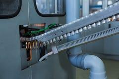 Procedimento de fabricação plástico da garrafa Fotografia de Stock