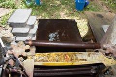 Procedimento del latice di gomma per la produzione dello strato di gomma Fotografie Stock