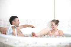 Procedimento do banho dos termas Imagens de Stock Royalty Free