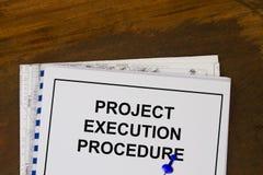 Procedimiento de la ejecución del proyecto Fotos de archivo libres de regalías