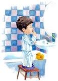 Procedimiento de la mañana stock de ilustración