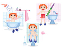 Procedimientos de la higiene Imagen de archivo libre de regalías