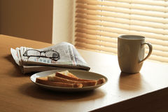 Procedura della prima colazione Fotografia Stock Libera da Diritti