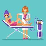 Procedura di epilation del laser illustrazione di stock