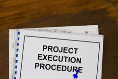 Procedura di esecuzione di progetto Fotografie Stock Libere da Diritti