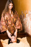 Procedura giapponese della stazione termale Fotografia Stock Libera da Diritti