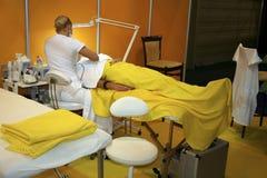 Procedura medica o cosmetica Fotografie Stock Libere da Diritti