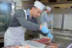 Procedura w chronić mięso zdjęcia stock