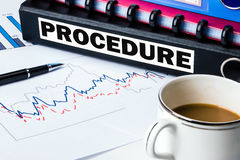 Procedure on folder Royalty Free Stock Photos
