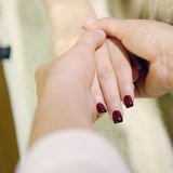 Procedure hands massage in the spa salon.Hand Care in the beauty salon. Royalty Free Stock Images