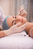 Procedure of professional cosmetology skin care Royalty Free Stock Photo