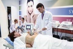 Procedure of vacuum massage Royalty Free Stock Photo