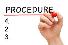 Procedurelijst stock afbeelding