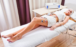 Procedures in spa clinic Stock Photography