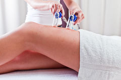 Procedures in spa clinic Stock Image