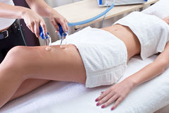 Procedures in spa clinic Stock Photos
