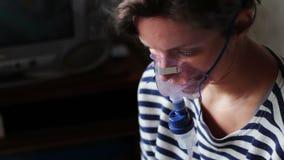 Procedury inhalacja kobieta zbiory