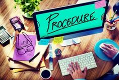 Procedury metody strategii procesu kroka pojęcie Obrazy Royalty Free