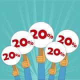 20 procentów dyskontowy sztandar Obraz Royalty Free