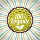 100 procentów eco organicznie etykietka royalty ilustracja
