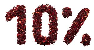 10 procentów poślubnik herbata na białym tle odizolowywającym Obrazy Royalty Free