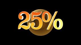 25 procentów premia royalty ilustracja