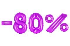 80 procentów, purpura kolor Zdjęcia Stock