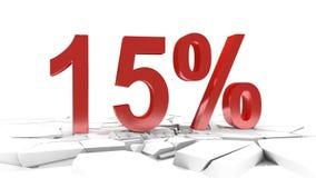 15 procentów rabat royalty ilustracja
