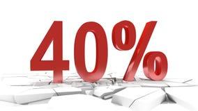 40 procentów rabat ilustracja wektor
