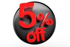 5 procentów z 3D ilustracja wektor