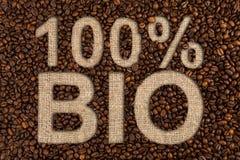 100 procent био концепций кофе Стоковая Фотография