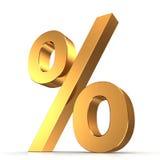 procent 3d undertecknar Arkivfoton