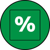 procent Royaltyfri Fotografi