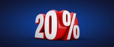 20 procent vektor illustrationer