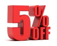 5 procent av befordran stock illustrationer