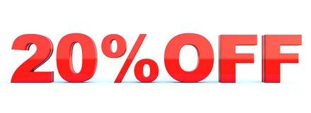 20 procent av rabatt stock illustrationer