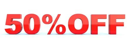 50 procent av rabatt royaltyfri illustrationer