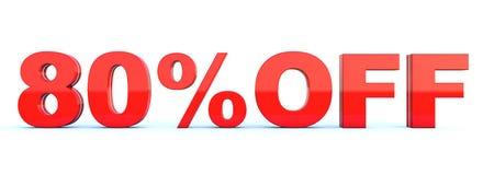 80 procent av rabatt vektor illustrationer