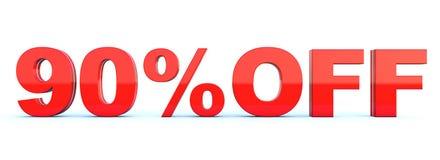 90 procent av rabatt vektor illustrationer