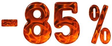 Procent av rabatt Negativ 85 femtiofem procent, tal Royaltyfri Fotografi