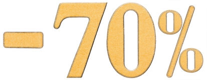 Procent av rabatt Negativ 70 sjuttio procent talisolat Royaltyfria Foton