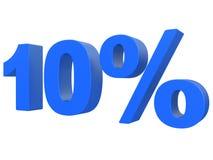 Procent av rabatten % 3d slösar text som isoleras på en vit tolkning för bakgrund 3d vektor illustrationer