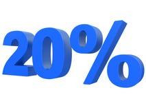 Procent av rabatten % 3d slösar text som isoleras på en vit tolkning för bakgrund 3d stock illustrationer