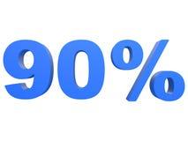 Procent av rabatten % 3d slösar text som isoleras på en vit tolkning för bakgrund 3d royaltyfri illustrationer