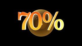 70 procent bonus royaltyfri illustrationer