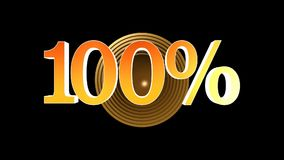100 procent bonus vektor illustrationer