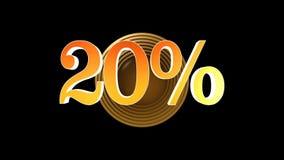 20 procent bonus vektor illustrationer