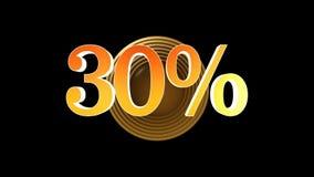 30 procent bonus vektor illustrationer