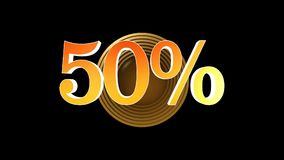 50 procent bonus stock video